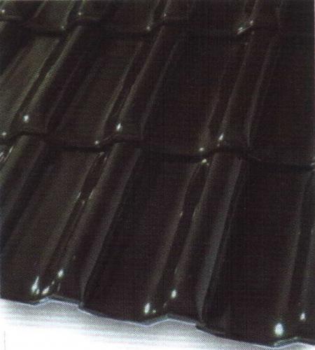 Черепица керамическая глазурь чёрно-коричневая