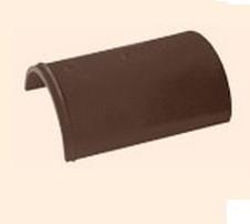 Черепица полимерпесчаная коньковая коричневая