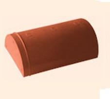 Черепица полимерпесчаная коньковая красная