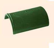 Черепица полимерпесчаная коньковая зеленая