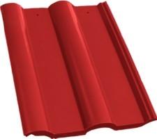 Черепица полимерпесчаная красная, коричневая, терракотовая.