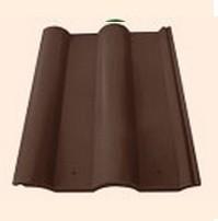 Черепица полимерпесчаная рядовая коричневая