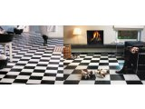Фото  9 Черно белый линолеум шахматная доска 9500 2935097