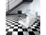 Фото  10 Черно белый линолеум шахматная доска 10500 210350107