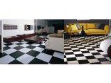 Фото  10 Черно белый линолеум шахматная доска 2000 21034975