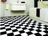 Фото  4 Черно белый линолеум шахматная доска 2434974