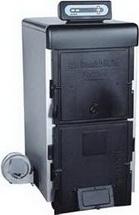 Чугунный твердотопливный котел с электронным регулятором температуры и вентилятором.20-75кВ т
