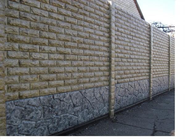 Секция(плита) еврозабора цветная(мрамор из бетона), размер 2х0,5м