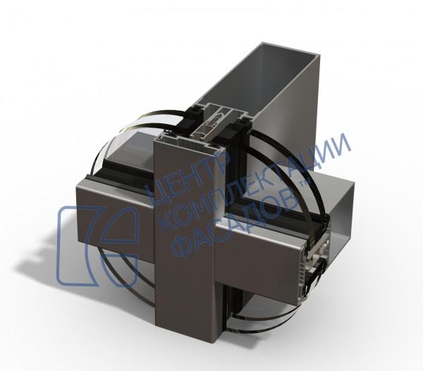 Cистема фасадного остекления Kmd F50. Сами производим, быстро считаем, комплектуем. Доставляем.