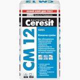 CM 12 Клеящая смесь для напольных плит и керамогранита, 25 кг.