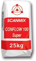 CONFLOW 100 SUPER - Самовыравнивающаяся (усиленная волокнами) смесь для пола. Толщина слоя не более 10 мм.