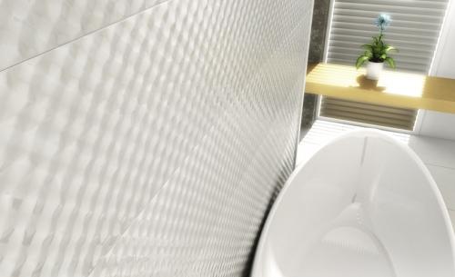 Corintina White, Gray 40x80