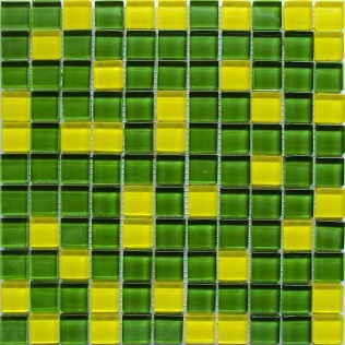 Мозаика стекло Crystal Yellow Green 300x300x6 мм