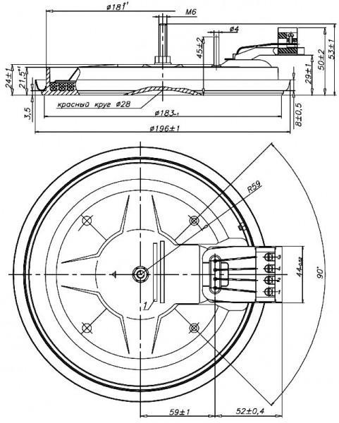 2000W — Электроконфорка