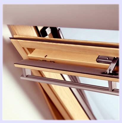 Дахові вікна Велюкс(Velux)економ з центральною віссю обертання, 78/118 з окладом для плоских покрівельних матеріалів.