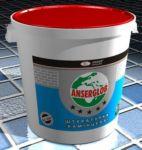 """Декоративна штукатурка акрилова Anserglob """"камінцева&quot ;, біла, зерно 1,5мм, 2мм, відро 25кг"""
