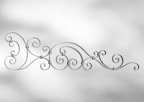 Декоративная кованая верхушка для ворот
