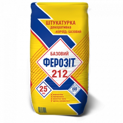 Декоративная штукатурка Короед Ферозит 212 зерно 2 мм, Ферозит 213 зерно 3мм БЕЛЫЙ