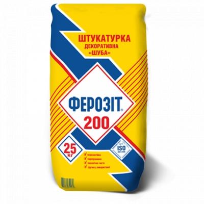 Декоративная штукатурка Шуба, штукатурка барашек Киев Ферозит 200