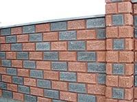 Декоративные заборные и столбовые блоки. Размеры блоков 2.37*7.5*10.7