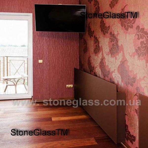 Декоративный экран из тонированного в массе стекла