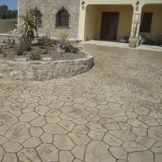 Декоративный пресс-бетон