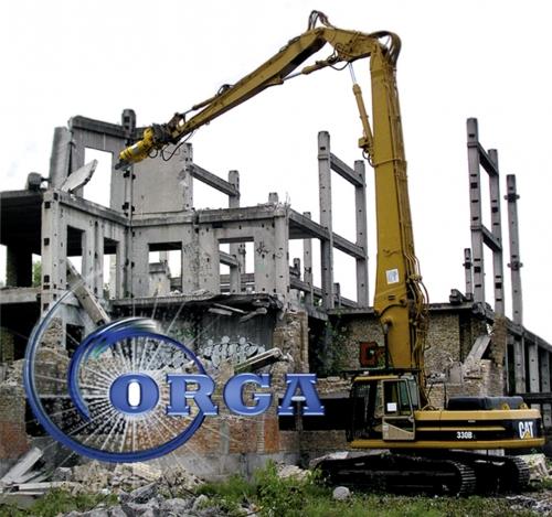 Демонтаж любой сложности. Перерабока строительных отходов на вторичный щебень.