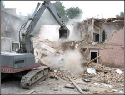 Демонтаж, снос сооружений, зданий, строений