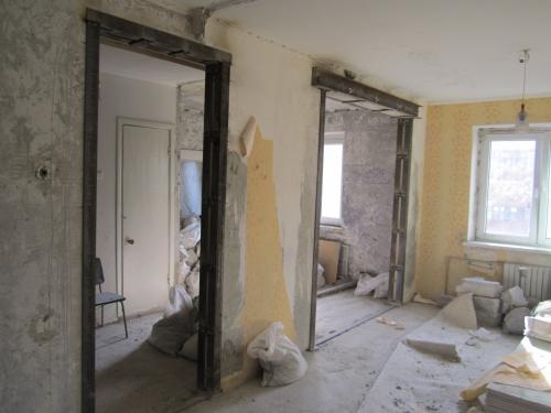демонтаж стен, перегородок, сантехкабин, демонтаж подоконной зоны.