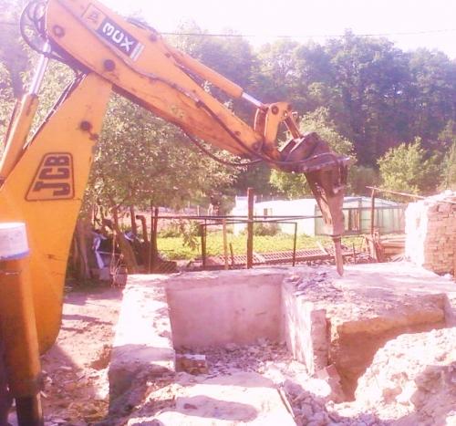 демонтаж стен. демонтаж фундамента. гидромолот237-01-40 демонтаж снос домов работа гидромолот киев