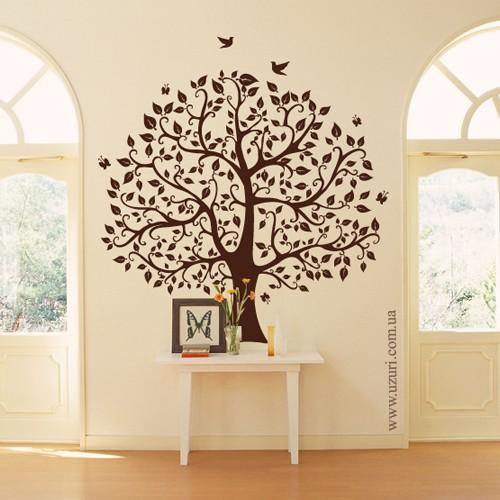 Дерево семьи - наклейка. Цвет на ваш выбор. Размер: 808х800 мм.