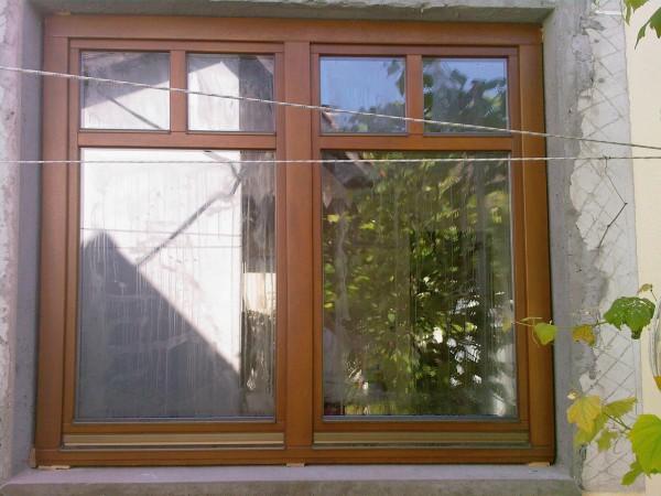 Деревяні вікна з євробруса з довільними склопакетами. Матеріал:сосна або мерантія. Фурнітура-ROTO.