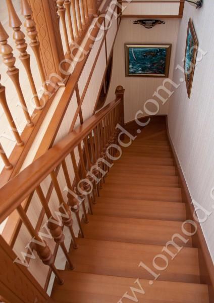 Деревянная лестница. Изящество и красота интерьера.