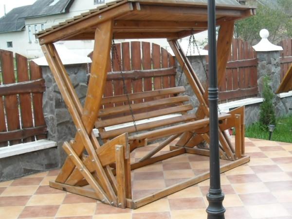 Деревянная мебель с применением оцилиндрованных бревен и гнуто-клееных конструкций