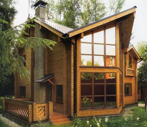 Деревянные дома, коттеджи из клееного профилированного бруса под ключ.Производство.Си стема скидок.База готовых проектов.