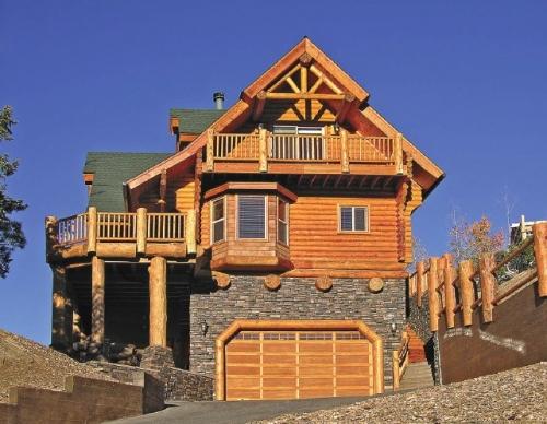 Деревянные дома оцилиндрованное бревно (сруб)
