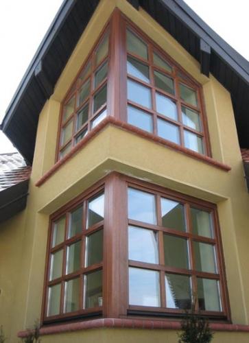 Деревянные окна польской фабрики URZEDOWSKI дуб, меранти, махагон, дуб-сосна
