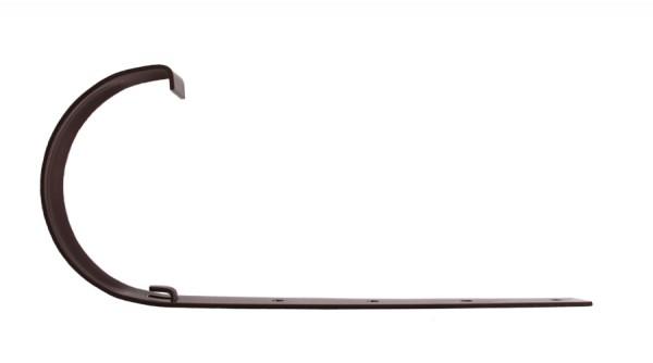 Держатель желоба металлический 120 белый, коричневый