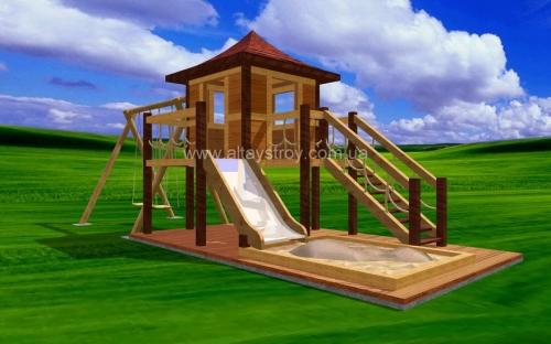 Детские деревянные площадки.