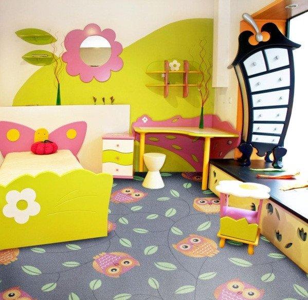 Фото  1 Детский ковер Совы серые 2135021