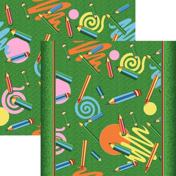 Фото  1 Детский ковролин Карандаши зеленые 2134209
