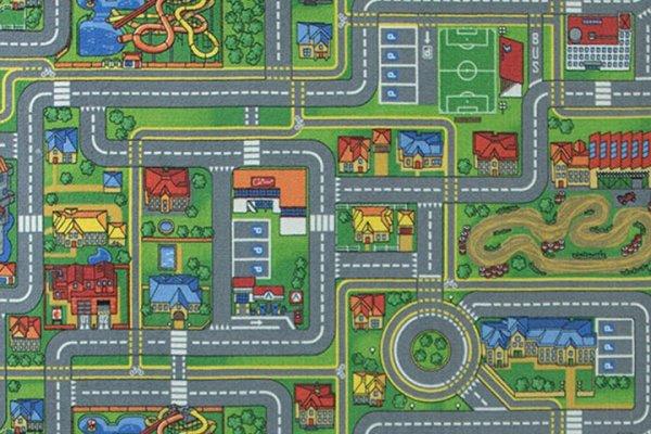 Фото  1 Детский ковролин с дорогами Плейсити 2500 2135010