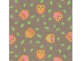 Фото  2 Детский ковролин Совы коричневые 2238693