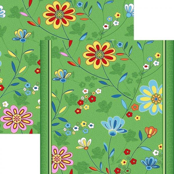 Фото  1 Детский ковролин Цветы 20 3000 2134246