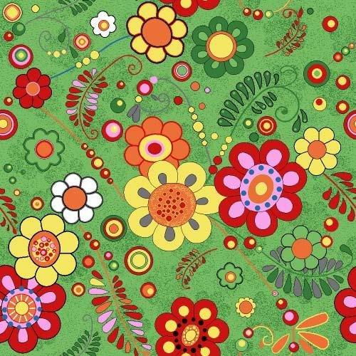 Фото  1 Детский ковролин Цветы 40 2000 2134984