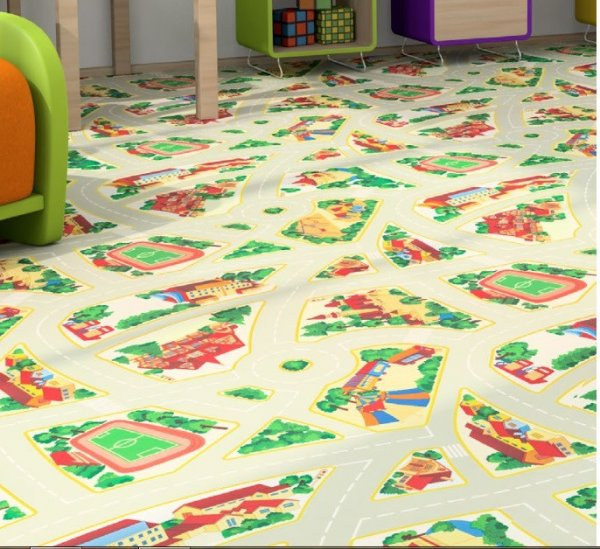 Фото  1 Детский линолеум Graboplast Terrana 01 / ECO Kids 4171-254 2134183