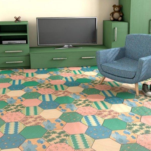 Фото  1 Детский линолеум Graboplast Terrana 01 / ECO Kids 4301-262 4000 2134187