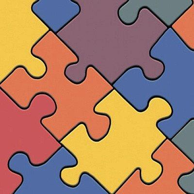 Фото  1 Детский линолеум Leoline Smart Bingo Puzzle Colour 50 4.0 м 2134163