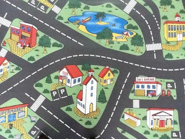 Фото  1 Детский линолеум Leoline Smart Bingo Traffic 50 2.5 м 2134155