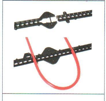 DEVIclip C-C Пластиковая монтажная лента. Шаг крепления 1 см, длина 1 м, в упаковке 10 шт. (10 м)
